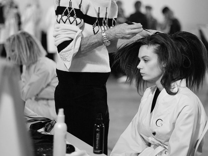 backstage georges chakra fashion week