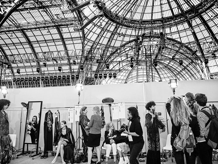 backstage leonard paris fashion week