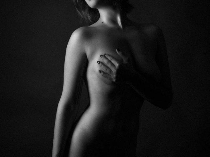 photo de nu noir et blanc