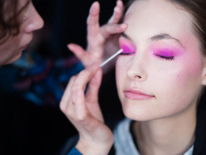 backstage yumi katsura fashion week