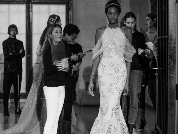 backstage georges hobeika fashion week