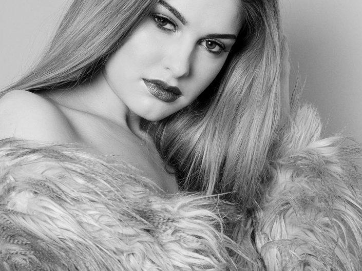 noir et blanc portrait