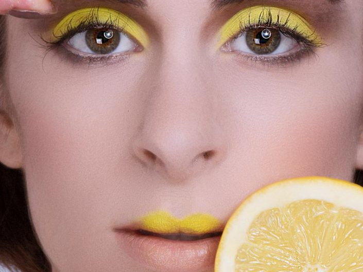 photo beaute make up jaune