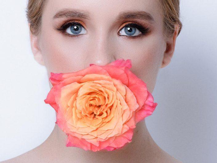 photo beaute avec fleur