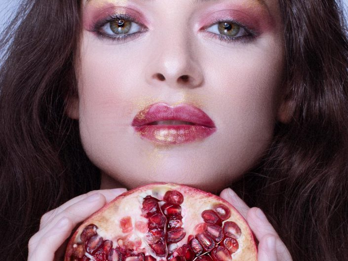 photo beaute avec des fruits