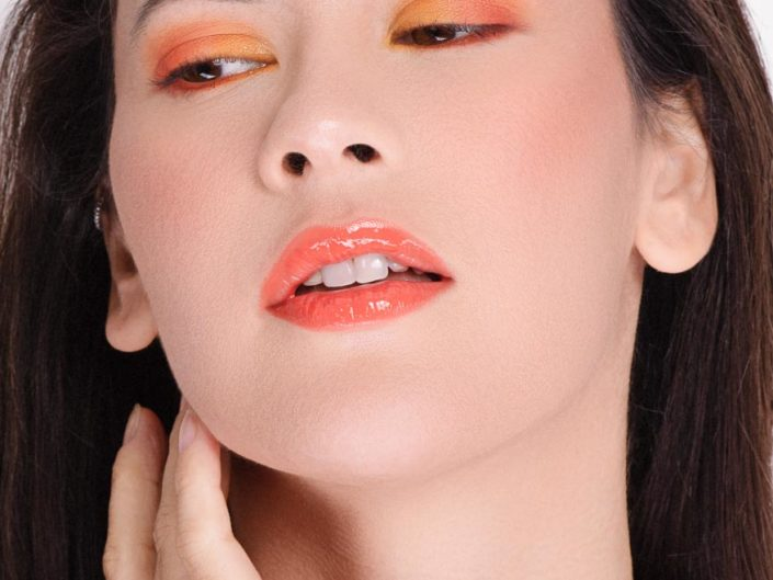 beauty portrait orange
