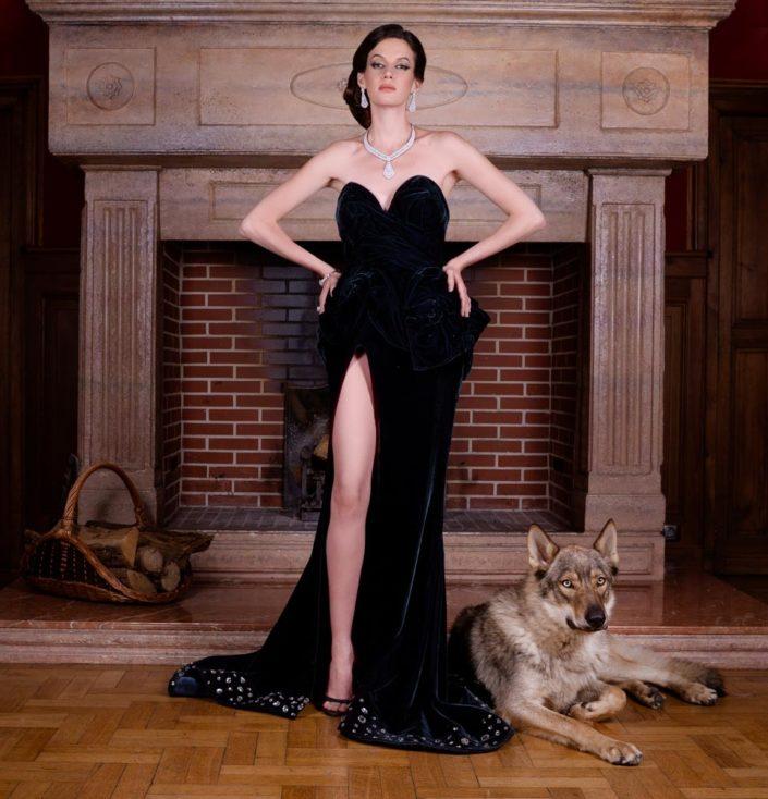 photo mode chateau femme magazine editorial
